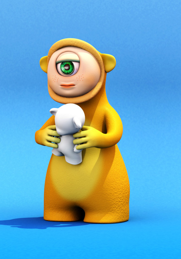 100 Awesome 3D Cartoon Characters & 3D Illustration ...