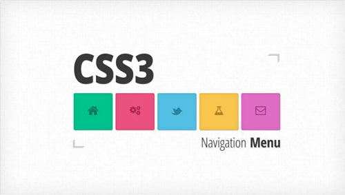 ColorfulCSS3AnimatedNavigation